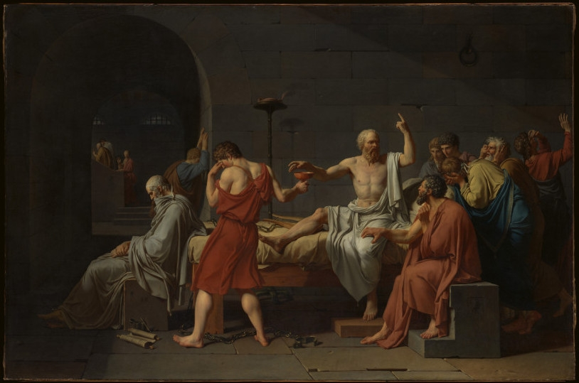 DE DOOD VAN SOCRATES Jacques Louis David, 1787